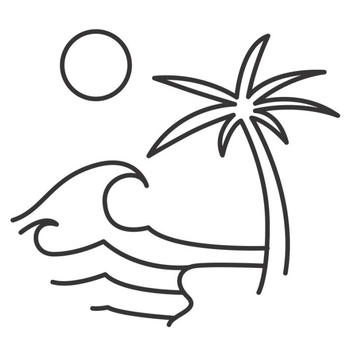 surf, beach, SUP, paddle, kayak, paddel, canoe, boat, sun, summer, palm tree, tropical